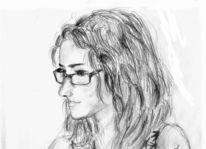Zug, Brille, Frau, Portrait