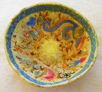 Bunt, Vogel, Glasur, Keramik