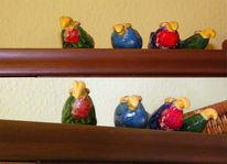 Vogel, Bunt, Glasur, Keramik