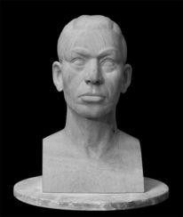 Holzskulptur, Portrait, Kopf, Büste