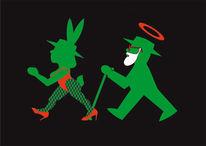 Paradies, Sünde, Ampelmännchen, Bunny