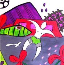 Fußball, Modern, Abstrakt, Acrylmalerei