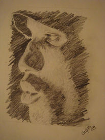 Bleistiftzeichnung, Portrait, Schatten, Zeichnungen