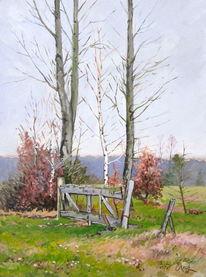 Baum, Winter, Landschaft, Dezember