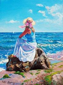 Strand, Ostsee, Sommer, Malerei