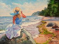 Strand, Sommer, Ostsee, Frau
