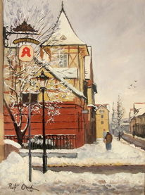 Straße, Schnee, Winter, Menschen