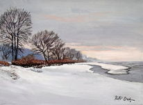 Winter schnee, Malerei