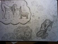 Zeichnungen, Karikatur, Eltern