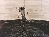 Acrylmalerei, Tropfen, Malerei,