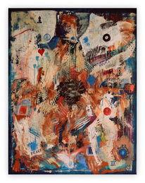 Acrylmalerei, Zahlen, Mischtechnik, Abstrakt