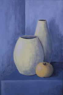 Stillleben, Vase, Apfel, Irina wall