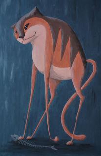 Tiere, Tiermalerei, Irina wall, Katze