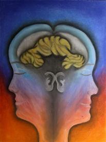 Beziehung, Denken, Gehirn, Kreide