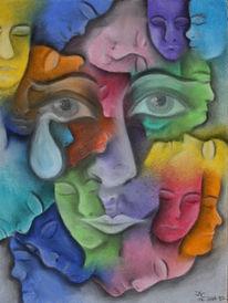 Gesicht, Tränen, Zeichnungen,