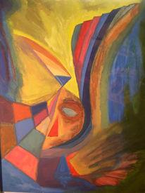 Gesicht, Malerei, Abstrakt,