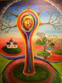 Baum, Malerei, Abstrakt,