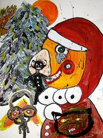 Weihnachtsmann, Malerei, Surreal