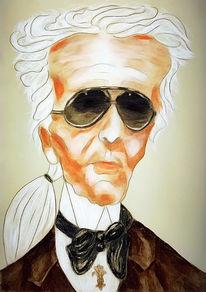 Mann, Portrait, Karikatur, Zeichnungen