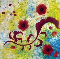 Blumen, Ornament, Mohn, Malerei