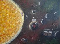 Planet, Malerei, Surreal, Leben