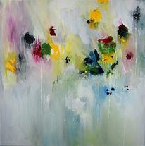 Druck, Experimentell, Blüte, Pastellmalerei
