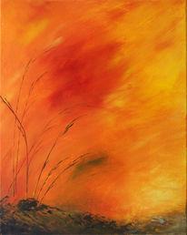 Malerei, Abstrakt, Lava