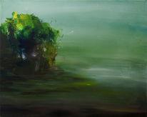 Fläche, Abstrakt, Grün, Landschaft
