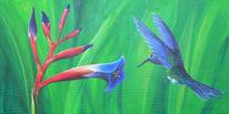 Tiere, Bromelien, Acrylmalerei, Tierportrait