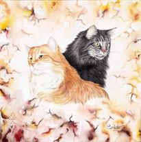 Zeichnungen, Portrait, Katzenportrait