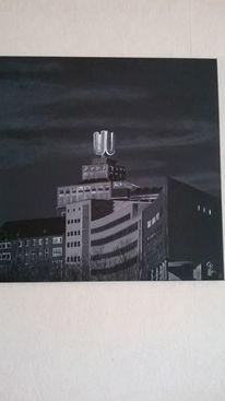 Union brauerei dortmund, Acrylmalerei, Dortmunder u, Malerei