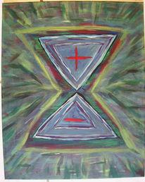 Malerei, Abstrakt, Innere, Kampf