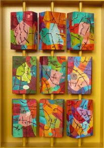 3d, Abstrakt, Malerei, Ocker
