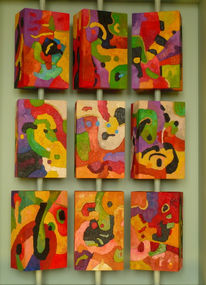 Abstrakt, 3d, Malerei, Terra