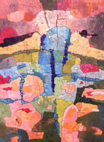 Modern, Abstrakt, Ölmalerei, Panel