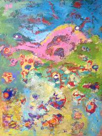 Confusions, Abstrakt, Ölmalerei, Panel
