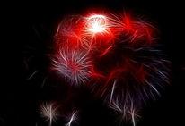 Feuer, Feuerwerk, Rammstein, Fotografie