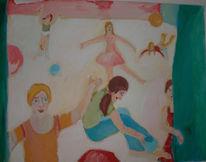 Tänzer, Theater, Menschen, Vorhang