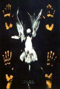 Hände, Vogel, Gelb, Zeichnungen