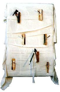 Tissu blanc, Novices, Fers, Konstruktion