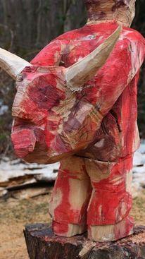 Modern, Figurative kunst, Skulptur, Holz