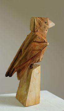 Skulptur, Vogel, Natur, Wooden birds