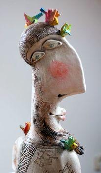 Ceramic sculpture, Dekoration, Vogel, Figurative kunst