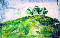 Abstrakt, Acrylmalerei, Grenze, Natur