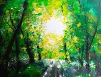 Lichtung, Romantisch, Waldlichtung im früsommer, Farben
