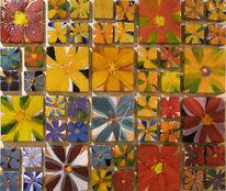 Gemälde, Ceramis, Blumen, Abstrakt