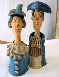 Liebe, Skulptur, Keramik, Portrait