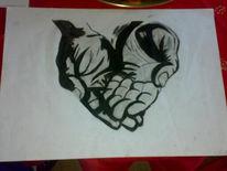 Gefaltente, Hände, Faltenten, Zeichnungen