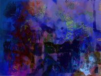 Digitale bildbearbeitung, Digital, Stimmung, Tiefblau