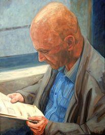 Portrait, Mann, Licht, Malerei